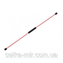 Гибкий вибротренажер LiveUp Flex Bar Черный+красный