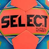 М'яч футзальний Select Futsal Street, оранжево-синій р. 4, ламінований, низький відскік, фото 2
