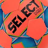 М'яч футзальний Select Futsal Street, оранжево-синій р. 4, ламінований, низький відскік, фото 3