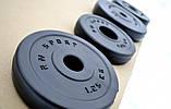 Штанга W-образная 40 кг с противоударным ABS покрытием, фото 8