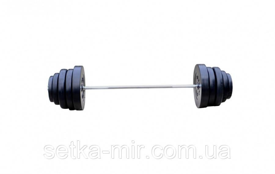 Штанга наборная 103 кг с противоударным ABS покрытием