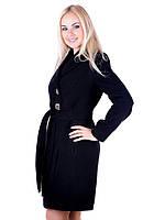 Стильное женское пальто ассиметричного кроя