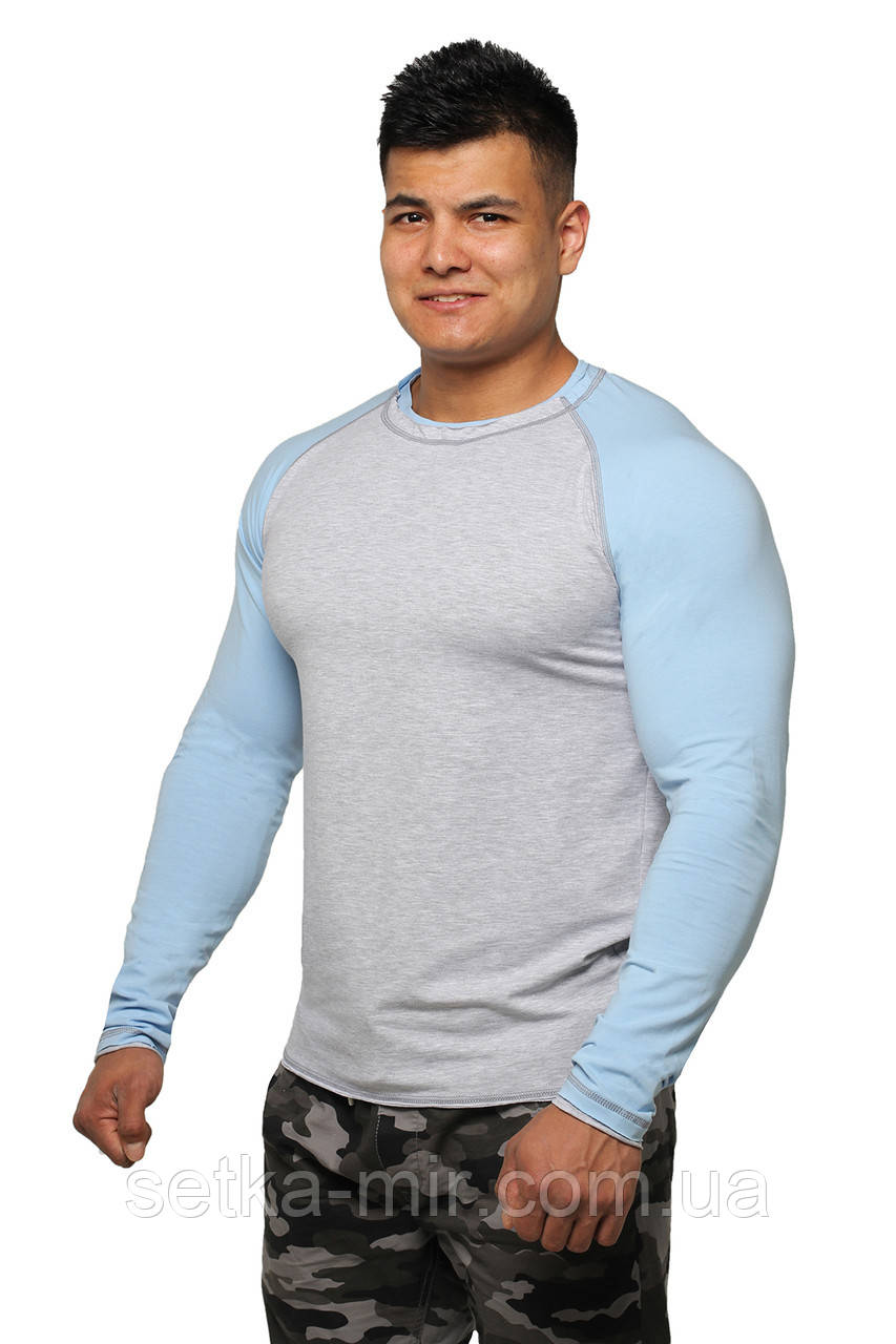 Реглан Long Sleeve BERSERK grey/light blue (размеры в ассортименте)