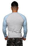 Реглан Long Sleeve BERSERK grey/light blue (размеры в ассортименте), фото 2