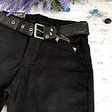 Штаны на мальчика 1/13 черные. Размеры 7 лет, 8 лет, 10 лет, фото 2