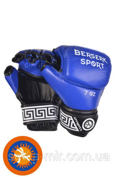 Перчатки BERSERK FULL for Pankration approved UWW 7 oz blue (винил)
