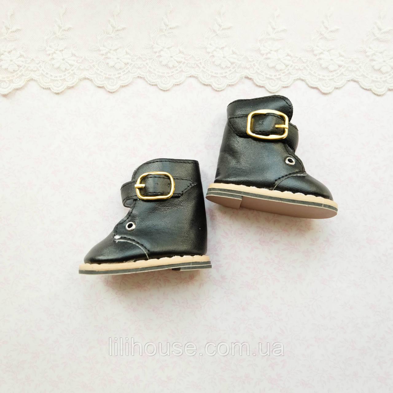 Обувь для кукол Сапожки на Застежке 7.5*4 см ЧЕРНЫЕ