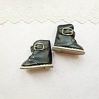 Обувь для кукол Сапожки на Застежке 7.5*4 см ЧЕРНЫЕ, фото 1