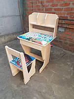 """Детская парта и стул растишка """"Книжка маквин"""""""