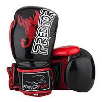 Боксерські рукавиці PowerPlay 3007 Чорні карбон 10 унцій