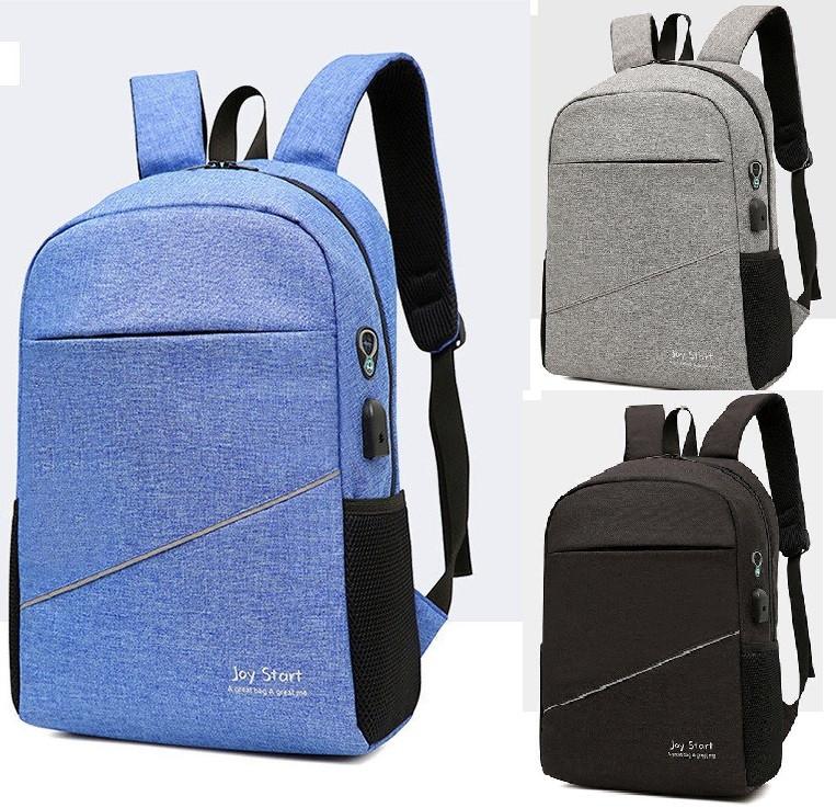 Рюкзак школьный повседневный с USB портом отверстие для наушников. Качество!