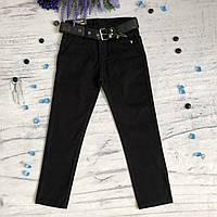 Штаны на мальчика 1/15 черные. Размеры 11 лет, 12 лет, 13 лет, 14 лет, фото 1