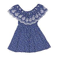 Платье для девочки  прямое батистовое, мелкий цветочек