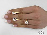 """Серьги и кольцо - серебряный набор с золотыми накладками """"Сладкий плен"""""""