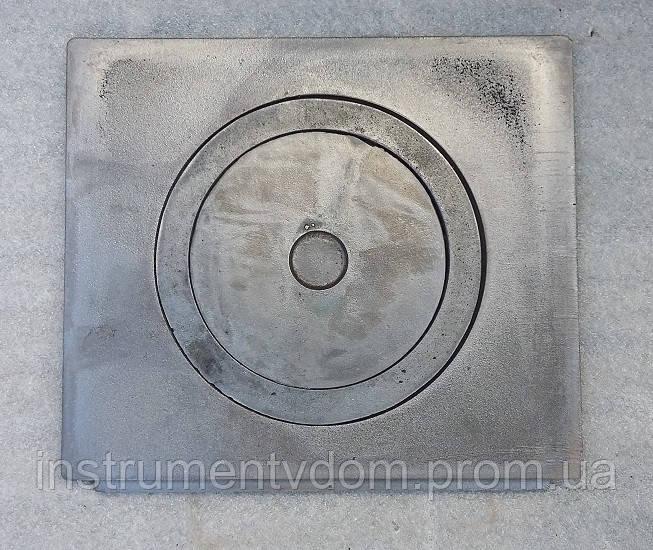 Плита печная чугунная 1-конфорочная (кокиль), 410х355 мм