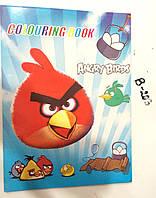 Расскраска с вкладышем наклеек Angry Birds