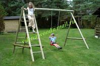"""Качеля деревянная для детей, одинарная с двумя лестницами, """"Хелен"""""""