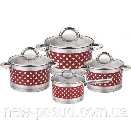 Набор посуды из нержавеющей стали 8 пр. Bohmann BH 0128