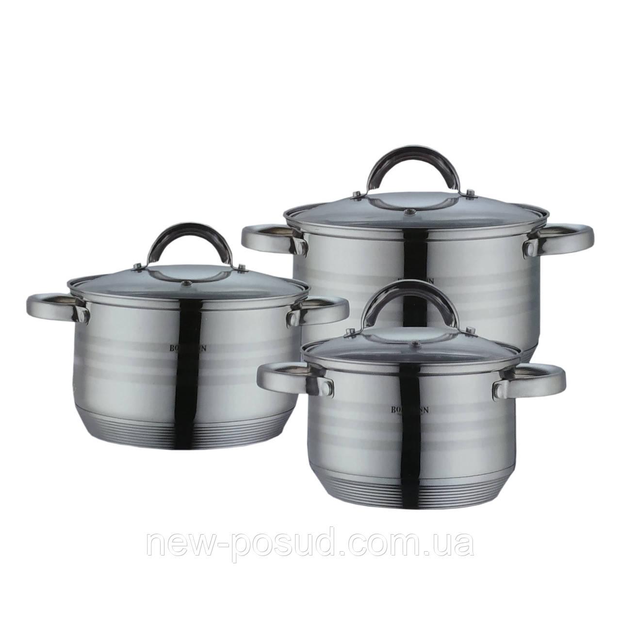 Набор посуды из нержавеющей стали 6 предметов Bohmann BH 0926