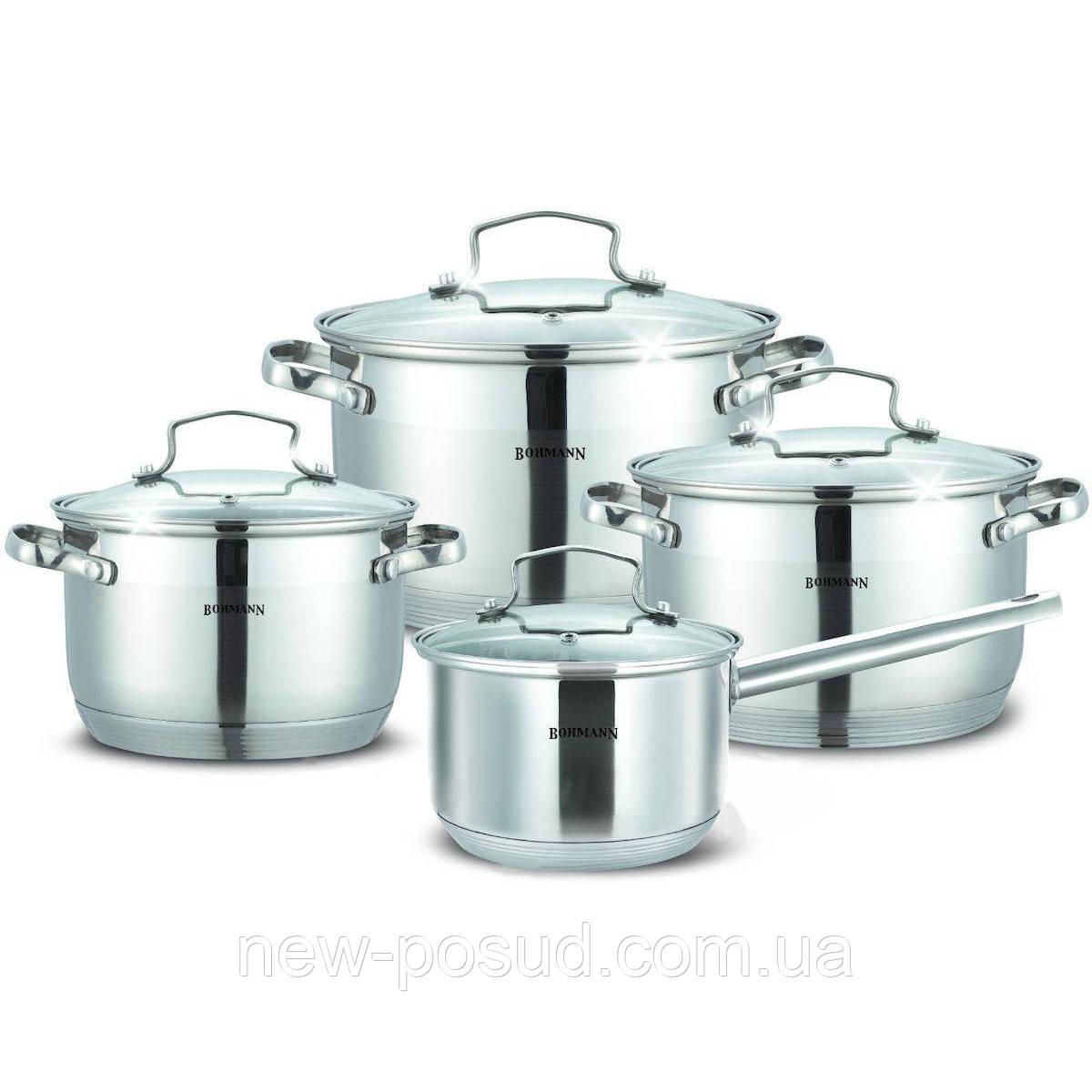 Набор посуды из нержавеющей стали - 8 пр Bohmann BH 1908 N