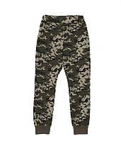 Штани для хлопчика зелені камуфляжні
