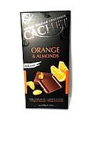 Чорний шоколад 57% какао Cachet 100гр (Бельгія) 100, Orange & Almonds (з апельсином і Мигдалем))