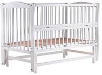"""Кроватка детская """"Маятник"""" белый лак"""