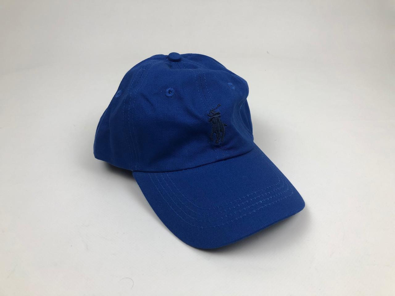 Кекпка Polo Ralph Lauren кожаный ремешок (Синяя, Темно-синее лого)