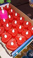 Декоративная Led свеча сердце, упаковка 24шт, фото 1