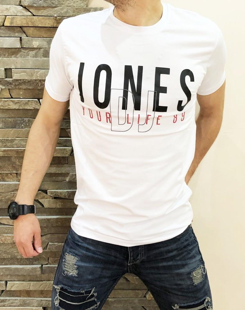 Мужская Футболка JONES white