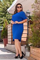 Платье  прямого кроя 48+