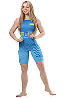 Трико для борьбы WRESTLER WOMENS APPROVED UWW blue (размеры в ассортименте)