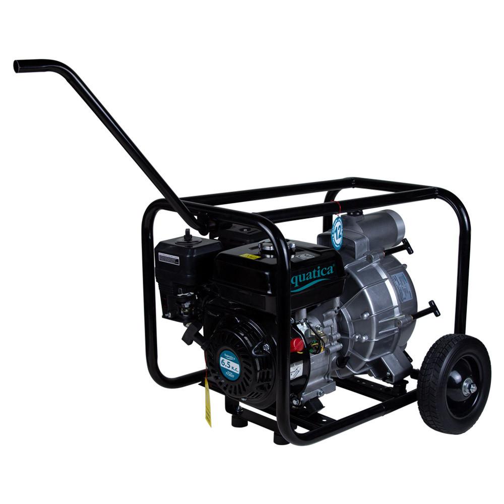 Мотопомпа 6.5л.с. Hmax 28м Qmax 50м³/ч (4-ех тактный) для грязной воды AQUATICA (772537)