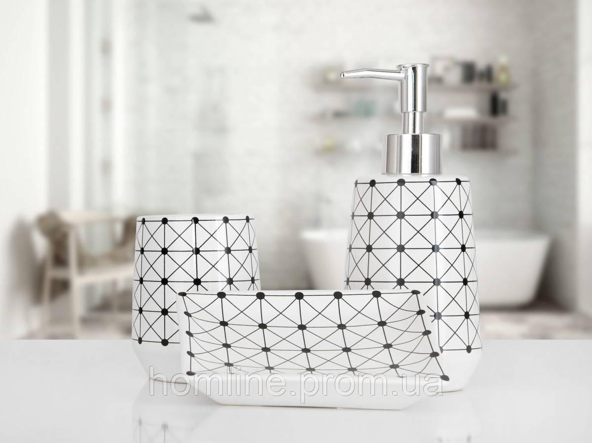 Комплект аксессуаров в ванную Irya Alba white белый (3 предмета)