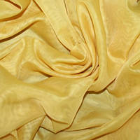 Тюль вуаль однотон. ярко-желтый