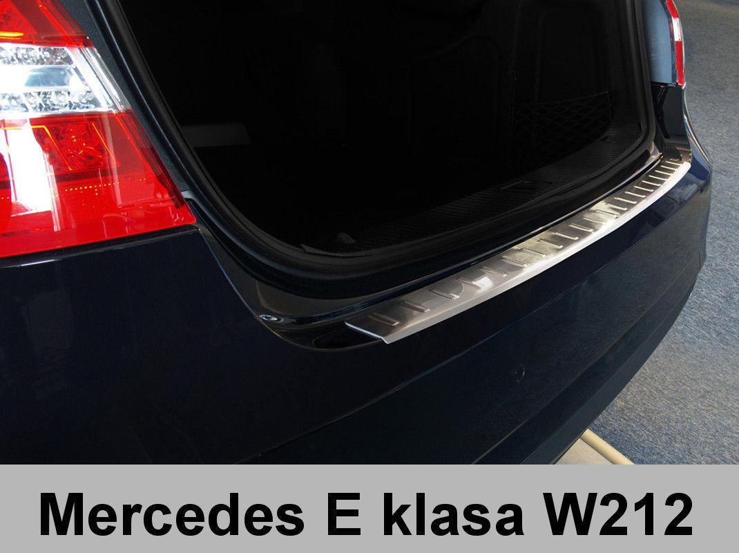 Нержавеющая защитная накладка на задний бампер Mercedes Benz W212 sedan