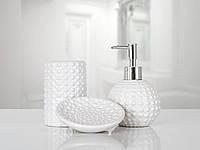 Комплект аксессуаров в ванную Irya Biva cream кремовый (3 предмета)