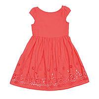 Платье для девочки батистовое кораллового цвета