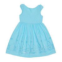 Платье для девочки батистовое голубого цвета
