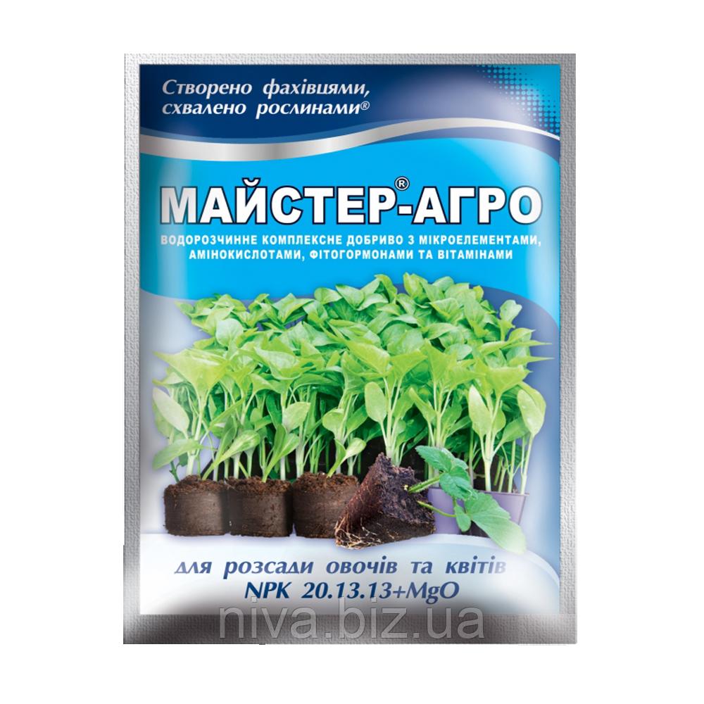Майстер Агро добриво для розсади овочів і квітів Україна 25 г