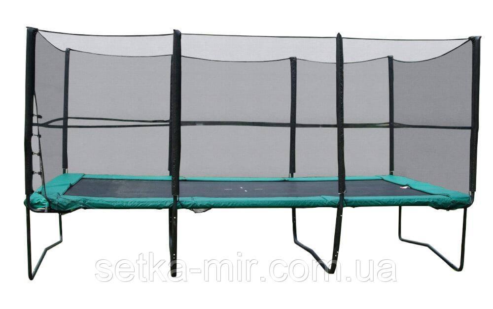 Прямоугольный батут KIDIGO 457х305 см. с защитной сеткой + лестница (BT457-305)
