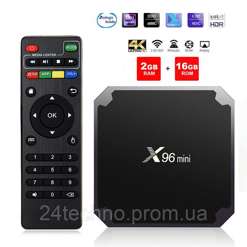 Smart Box X96mini 2/16GB Amlogic S905W HD