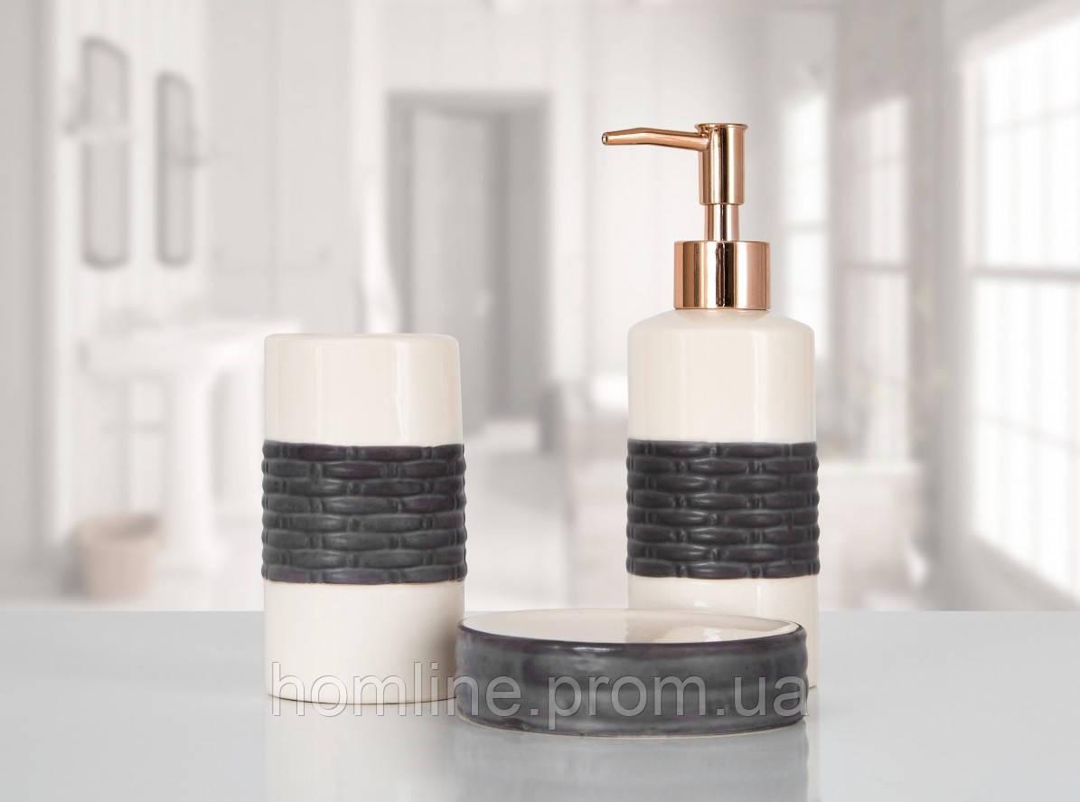 Комплект аксессуаров в ванную Irya Mona brown коричневый (3 предмета)