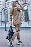 Стильный брючный костюм с жакетом на подкладке 1197 (42–48р) в расцветках, фото 5