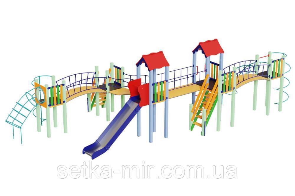 Детский комплекс Змейка, высота горки 1,5 м