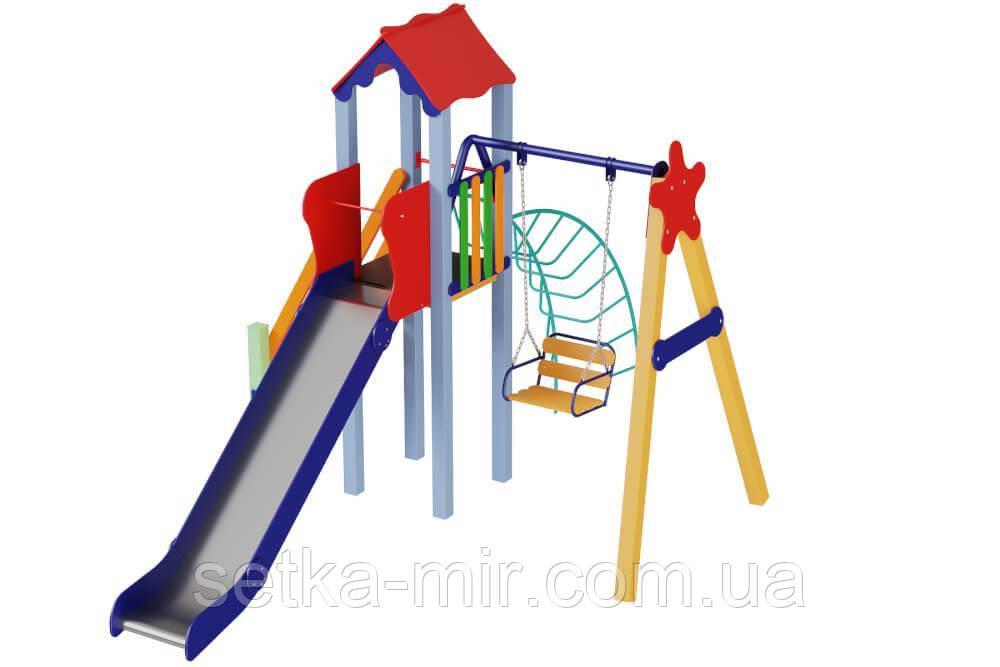 Детский комплекс Бабочка, высота горки 1,5 м