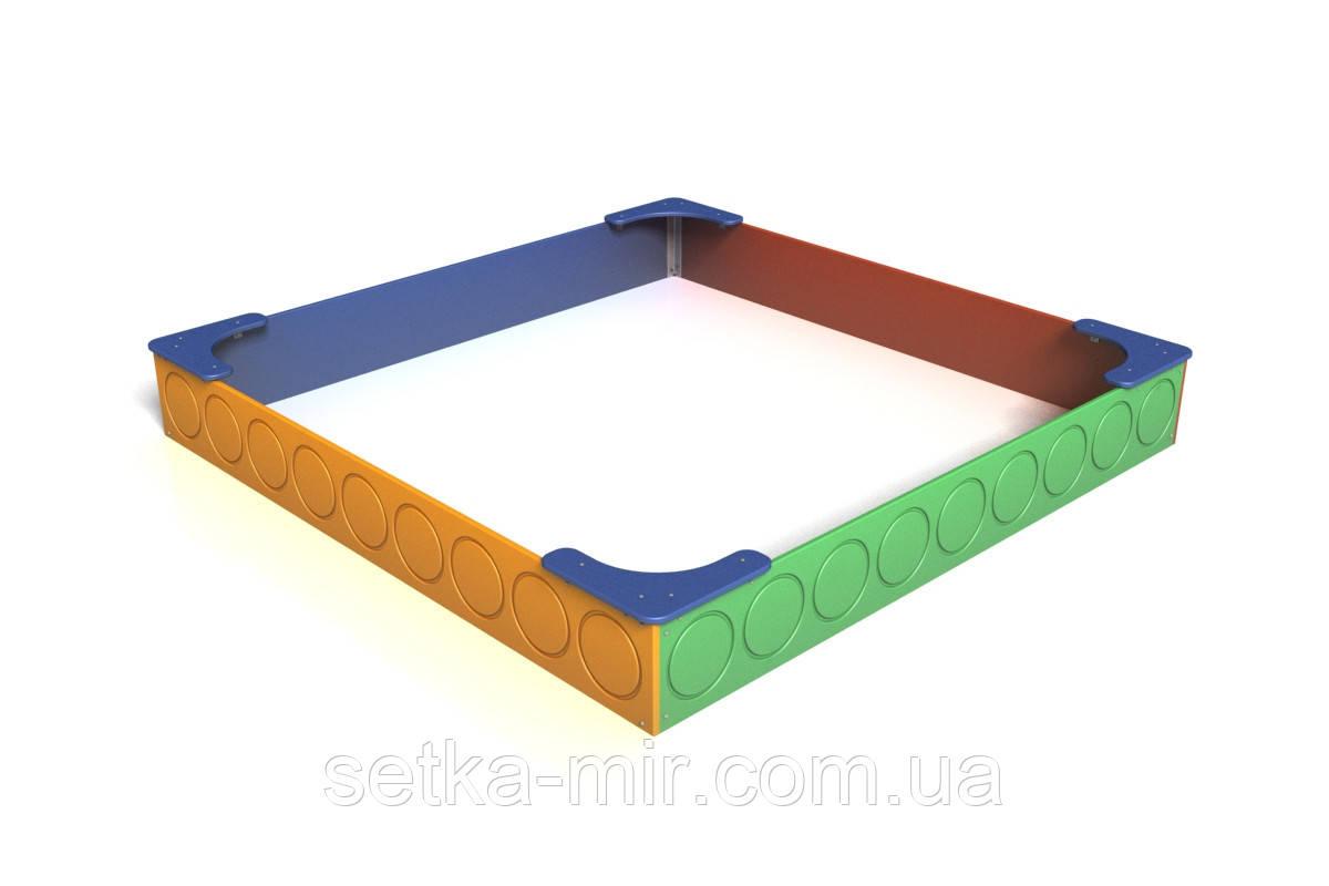 Песочница Радуга 2,3 х2,3 м     Kidigo (12-5-11.4/2-6)