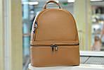 Женский кожаный рюкзак рыжий