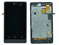 Sony ST27 black LCD, модуль, дисплей с сенсорным экраном с рамкой в сборе