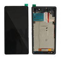 Sony Xperia L S36h LCD, модуль, дисплей с сенсорным экраном с рамкой в сборе